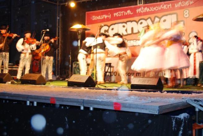 traditional folk dancing at winter carnival