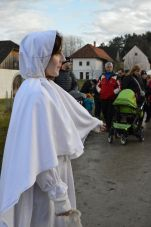 Lucia in white at skanzen
