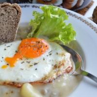 Lentil Stew with Fried Egg