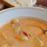 Slovak Sour Potato Soup
