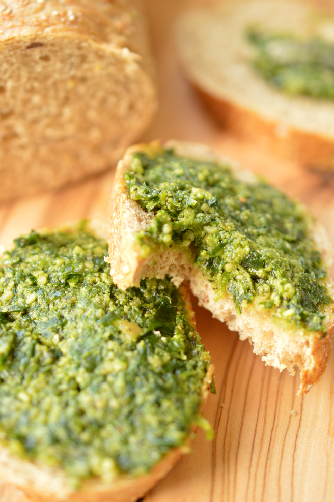bear garlic pesto