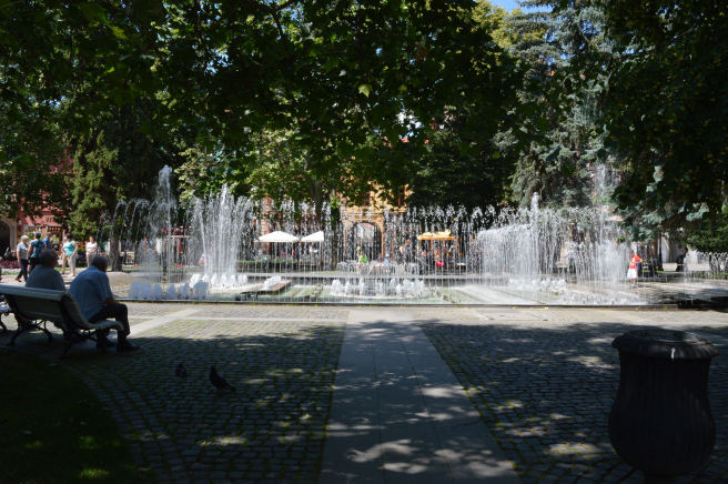 The singing fountain in Kosice