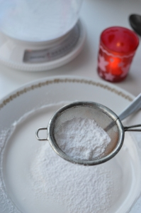 adding sugar to the egg white