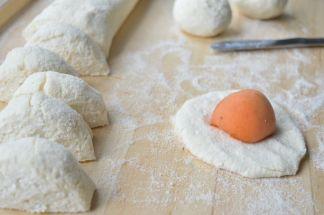 making apricot balls