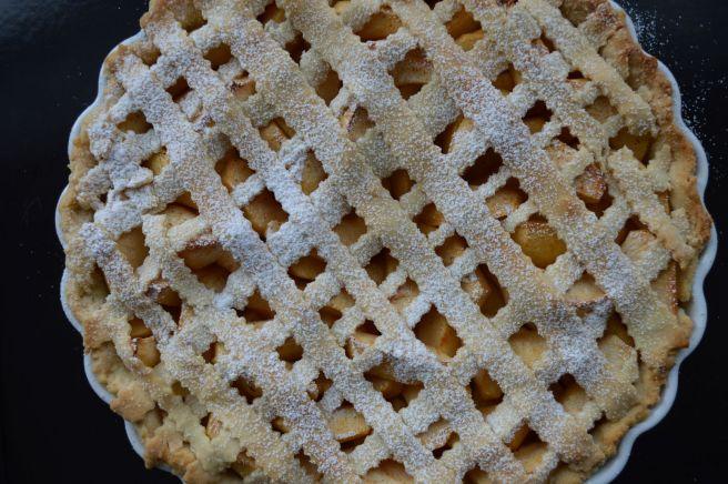 criss-crossed apple pie