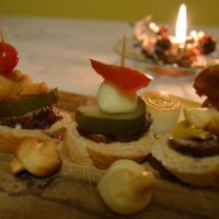 New Year's Eve canapés