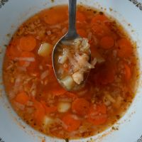 Chickpea Soup with Root Vegetables