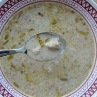 Creamy Walnut and Leek Soup