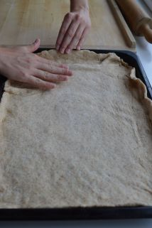 fixing the dough