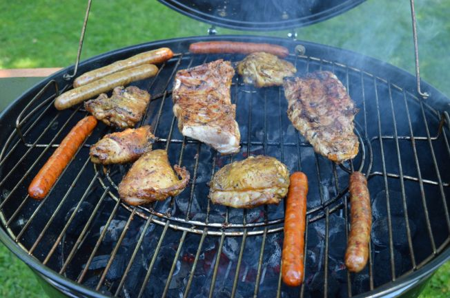 Pork, chicken and sausages are most popular meats at a Slovak grill party.