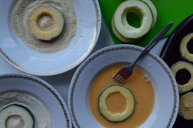 coating zucchini rings
