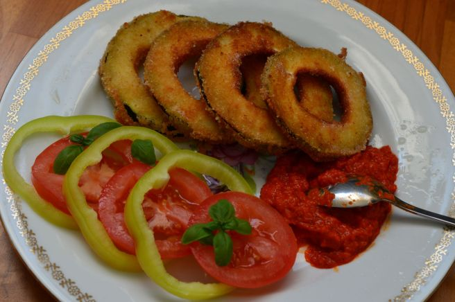 fried zucchini rings - feature image