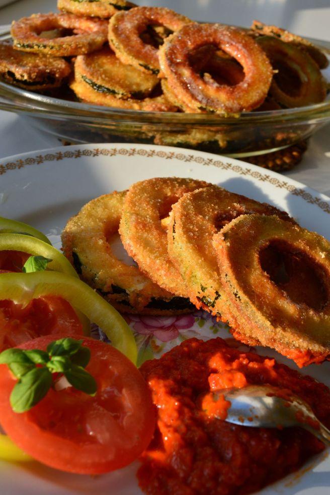 fried zucchini rings